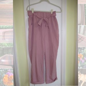 Pink Cantonnier Paperbag Highwaisted Pants